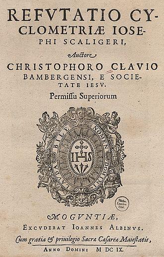 Christopher Clavius - Refutatio cyclometriae Iosephi Scaligeri