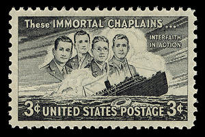 John P. Washington - Four Chaplains stamp, 1948