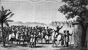 Futa Tooro - The army of Futa Toro in march (1820).