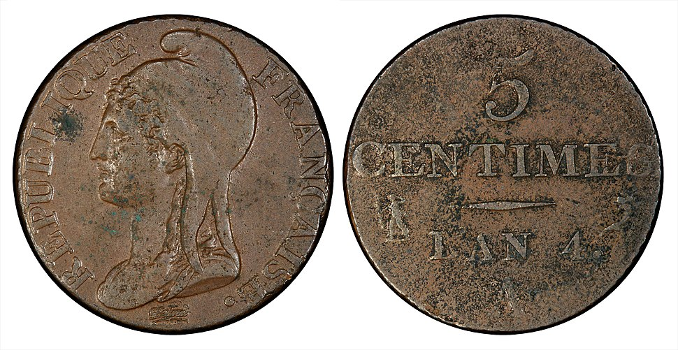 France 1795-96-A 5 Centimes