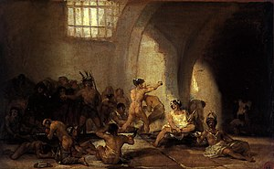 Yard with Lunatics - Goya's The Madhouse, 1812-19. Real Academia de Bellas Artes de San Fernando, Madrid.