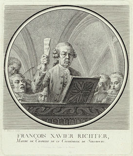 Franz Xaver Richter Austro-Moravian singer, violinist, composer, conductor and music theoretician