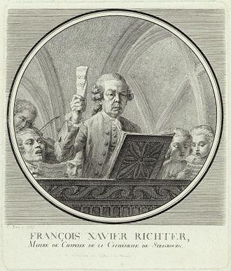 Franz Xaver Richter - Franz Xaver Richter conducting