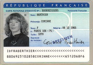 National identity card (France) national identity card of France