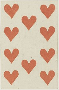 French Portrait card deck - 1813 - 10 of Hearts.jpg
