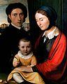 Friedrich Overbeck - Selbstporträt des Künstlers mit Frau und Sohn Alfons.jpg
