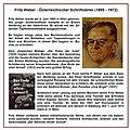 Fritz Weber 1895-1972 (Schriftsteller) Gedenktafel Unterach am Attersee.jpg
