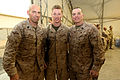 From left, U.S. Marine Corps Sgt. Maj. Daniel Krause, the sergeant major of the 1st Combat Engineer Battalion (CEB); Cpl. Matthew Scheffers, a combat engineer with the 1st CEB; and Sgt. Maj. Bryan B. Battaglia 140316-M-JD595-7783.jpg
