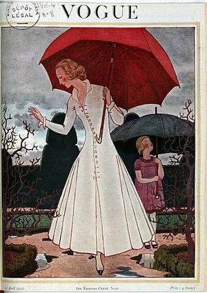 Vogue Paris - Front cover of Vogue magazine – April 1922