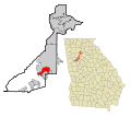 Fulton County Georgia Incorporated and Unincorporated areas East Point Highlighted.svg