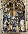 Güstrow Marienkirche - Hochaltar Passionszyklus 3 Jesus vor Kaiphas.jpg