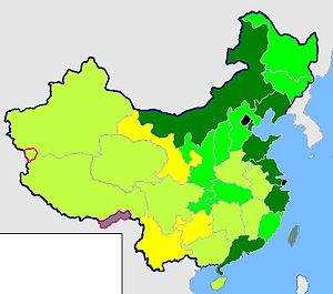 English: GDP per capita of china provinces in 2009