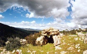 Prehistoric North Africa - Dolmen at Roknia. Roknia is a necropolis in the Guelma region of north-east Algeria consisting of more than 7000 dolmens spread over an area of 2 km.
