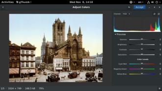 GThumb - Image: G Thumb v 3.4 Adjust Colors