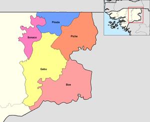 Gabú Region - Sectors of Gabú