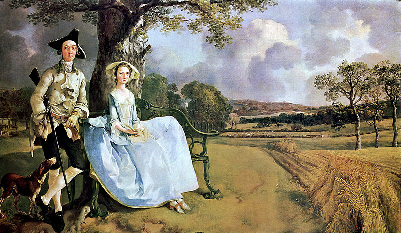 Classical English portraits... Mr. and Mrs. Robert Andrews - 1748, by Thomas Gainsborough. Oil on canvas; width approximately 48 inches; National Gallery. ...can certainly be considered classical English portraiture. GrlFineArt; art paintings, ‪‎fineart, people, figurative, profile, ‪‎painting‬, ‪‎painting‬s, prints, original, classical, traditional ...