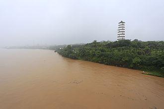 Gan River - Gan River and Yuhong Pagoda in Ganzhou