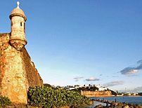 Photo of a garita in el Morro Castle in Puerto...