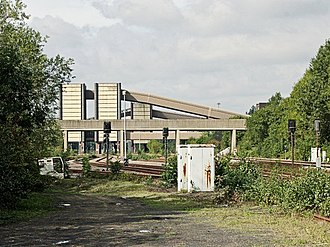 Selby Coalfield - Gascoigne Wood, covered conveyors, and rail wagon loading bays (2006)
