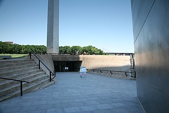 Gateway Arch - Southern entrance to the subterranean visitor center