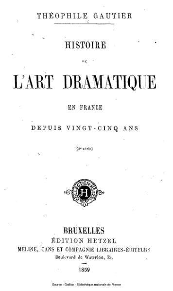 File:Gautier - Histoire de l'art dramatique en France depuis vingt-cinq ans, 4e série.djvu