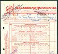 Gebrüder Grebenstein GmbH Kofferfabrik Hannover Schaufelder Straße Rechnung 1930-02-08 Franz Spornitz Freyenstein I.jpg