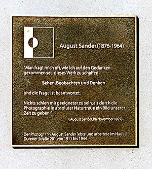 Sander, August (1876-1964)
