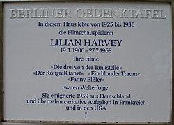 Gedenktafel lilian harvey berlin d%c3%bcsseldorferstrasse 47 20070607