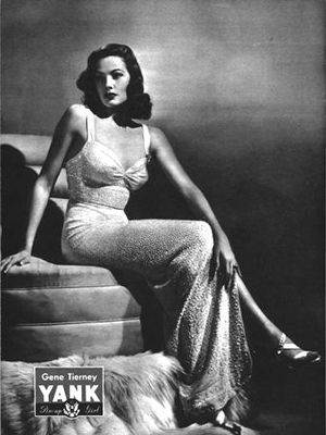 Pin-up photo of Gene Tierney for the May 25, 1...