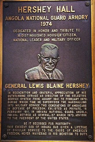 Lewis Blaine Hershey - Lewis Blaine Hershey (September 12, 1893 – May 20, 1977) was a United States Army general who served as the second Director of the Selective Service System, the means by which the United States administers its military conscription.