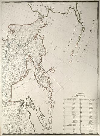 Sea of Okhotsk - Most of the Sea of Okhotsk, with the exception of the Sakhalin Island, had been well mapped by 1792