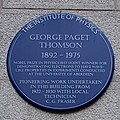 George Paget Thomson plaque.jpg