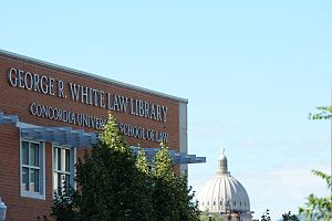 Concordia University School of Law - Image: George R. White Law Library