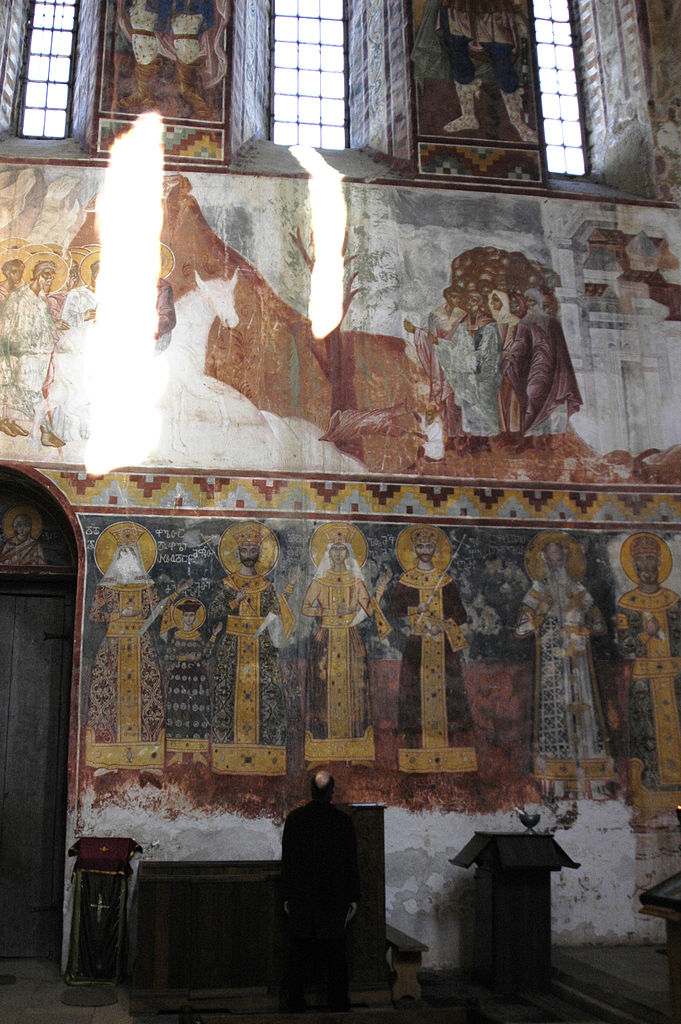 File georgia imereti gelati monastery church of virgin for Church wall mural