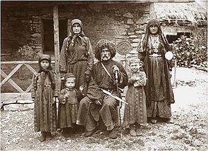 Georgian family of writer Vazha-Pshavela (in t...