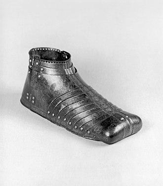 Sabaton - German sabaton for the right foot, c. 1550