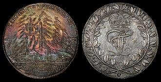 John Frederick, Duke of Brunswick-Lüneburg - Image: German States Brunswick Lüneburg 1679 6 Thaler D LS214