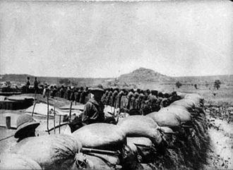 Second Battle of Garua - German troops manning the defenses at Garua during the Kamerun Campaign