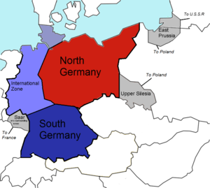 The September 1944 U.S. (Morgenthau) Plan for the partitioning of Germany.
