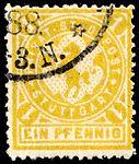 Germany Stuttgart 1886 local stamp - 1 used.jpg