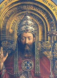 Krisztus tiarával a genti oltárképen