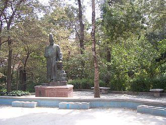 Gheytarieh - The statue of Amir Kabir in Qeytarieh Park.