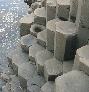 Columnar jointing - Columnar jointing in Giant's Causeway in Northern Ireland