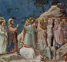 La resurrección de Lázaro por Giotto di Bondone ( siglo XIV ).