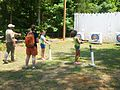 Girl Scouts doing Archery at Twin Lakes State Park (14383310715).jpg