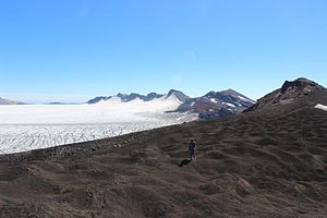 Sollipulli - Image: Glaciar Crater Nevados de Sollipulli