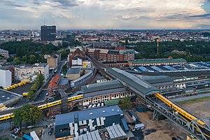 Gleisdreieck (Berlin U-Bahn) - Aerial photo