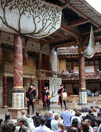 Love's Labour's Lost - The start of a performance of Love's Labour's Lost at the Globe Theatre.