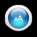 Glossy 3d blue fontsize.png