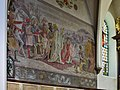 Gmunden - Pfarrkirche Jungfrau Maria und Erscheinung des Herrn - Wandmalerei Die drei Weisen auf dem Weg nach Bethlehem - 1931.jpg